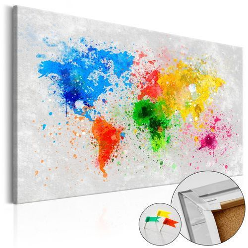 Artgeist Obraz na korku - światowy ekspresjonizm [mapa korkowa]