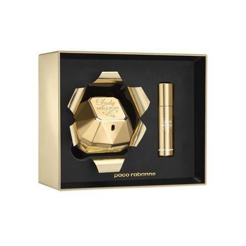 lady million, zestaw podarunkowy, woda perfumowana 80ml + woda perfumowana 10ml marki Paco rabanne