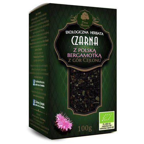 Dary natury - herbatki bio Herbata czarna z polską bergamotką bio 100 g - dary natury (5902581616944)