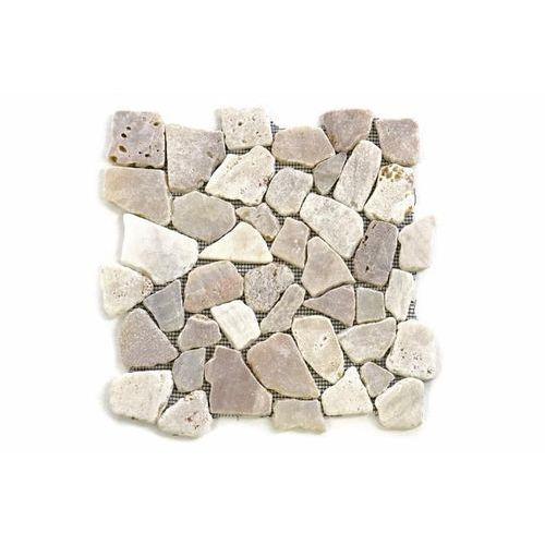 Mozaika z naturalnych kamieni ozdobnych Garth na siatce kremowa 1 m2