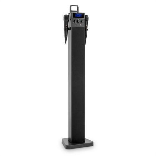 hitower kolumna wieżowa karaoke bluetooth fm aux slot usb do ładowania 2 x mikrofon marki Auna