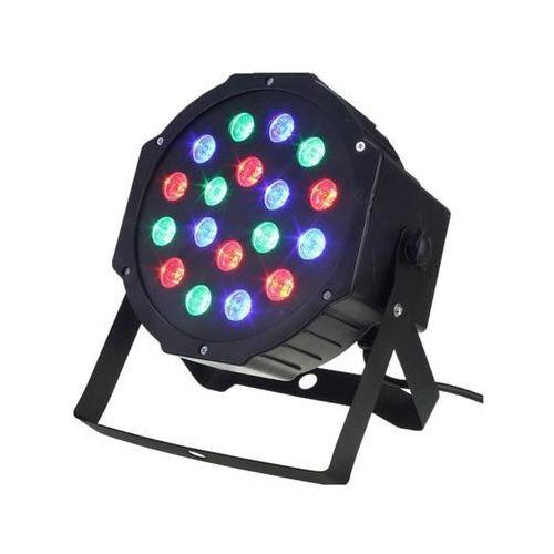 Apte Reflektor led rgb disco 18 x3w led reflektor slim par
