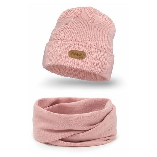 Jesienny komplet czapka i komin dla dziewczynki (5902934089531)