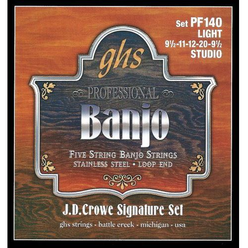 j.d. crowe signature struny do banjo, 5-str. stainless steel, studio,.0095-.020 marki Ghs