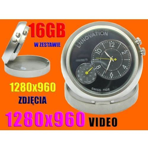 ZEGAREK UKRYTA KAMERA SZPIEG 1280x960 microSD+16GB (kamera monitoringowa)