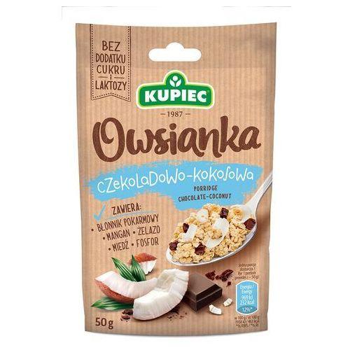 Owsianka czekoladowo kokosowa 50g (bez dodatku cukru i laktozy) marki Kupiec