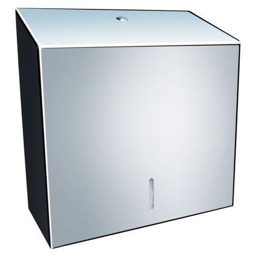 Pojemnik na ręczniki papierowe składane Merida STELLA MAXI stal szlachetna połysk, ASP101