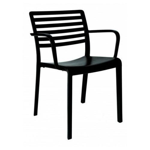 Resol Krzesło z podłokietnikami lama - czarny