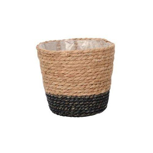 Osłona doniczki wiklinowa 17.5 cm KOSZ MOROCCAN naturalny/czarny (5903039405387)