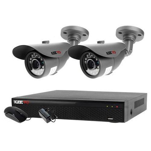 Zestaw 4w1, 2x Kamera HD/IR20, Rejestrator 4ch LV-XVR44SE chmura, ZM7495
