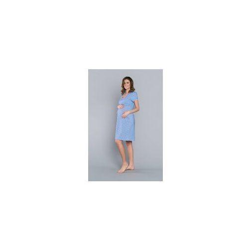8ac4ed19cfa85f Koszula nocna ciążowa i do karmienia stokrotka - niebieska, Italian fashion  66,90 zł urodziwa koszula marki Italian Fashion wytwarzana z miękkiej i ...