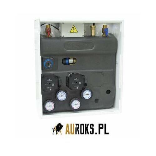 zestaw mieszający primobox azb 251 w szafce, zawór obrotowy z siłownikiem arm 141, zawór termostatyczny atm 561 marki Afriso
