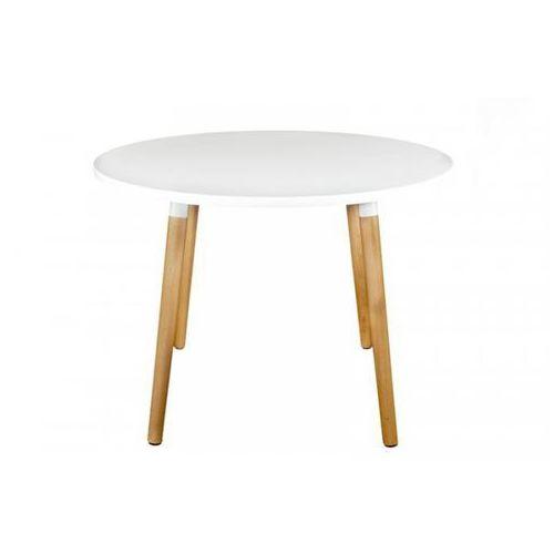 Stół Okrągły 100 cm COPINE - Biały Blat, D2 z DesignForHome.pl