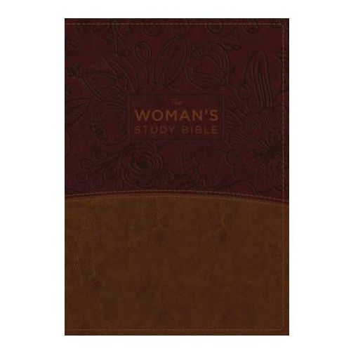 NKJV, Woman's Study Bible, Leathersoft, Brown/Burgundy, Red Letter, Full-Color Edition, Thumb Indexed