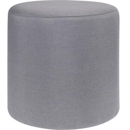Pufa bawełniana, siedzisko, podnóżek, szary - 35 x 35 cm (5902973402902)
