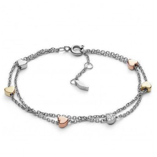 romantyczna bransoletka z serduszkami jf02854998 marki Fossil