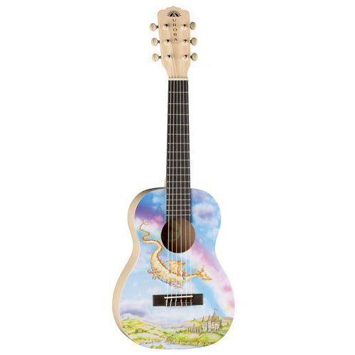 aurora v2 1/2 nylon dragon - gitara klasyczna 1/2 marki Luna
