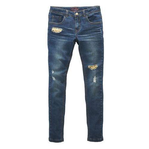 BALTIMORE LEAGUE Obcisłe dżinsy, znoszony wygląd, z cekinami - produkt dostępny w La Redoute