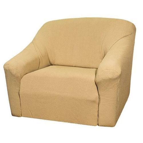 pokrowiec multielastyczny na fotel, beżowy, elegant, 70 - 110 cm, 70 - 110 cm marki 4home