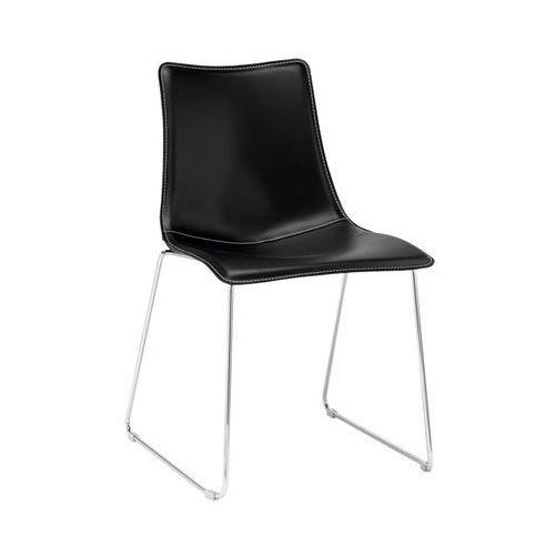 Machina Meble ZEBRA POP Krzesło Tapicerowane Czarne - 2641-T455 - oferta [b5b54c7d175534bd]