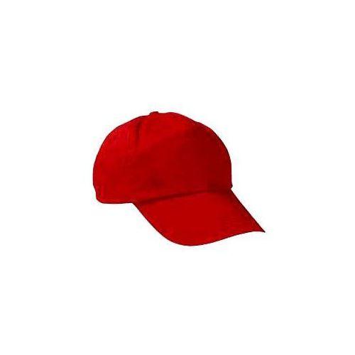 Czapka z daszkiem bawełniana bawełna bejsbolówka dziecięca młodziewa dorosła dzieciece czerwony