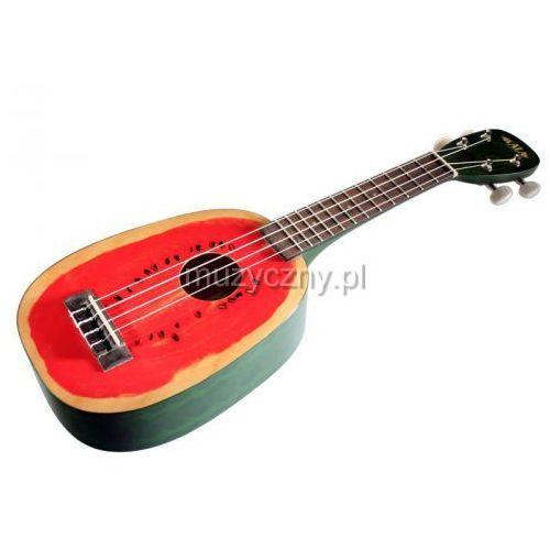 mahogany watermelon ukulele sopranowe z pokrowcem marki Kala
