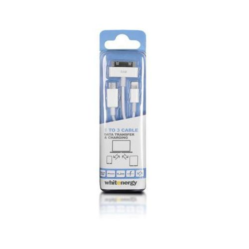 Whitenergy KABEL USB 2.0 AM BmicUSB /iphone4/5 20cm bialy - oferta (9592d54e537f57c4)
