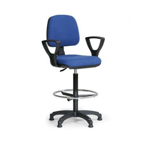 Podwyższone krzesło MILANO z podłokietnikami - niebieske