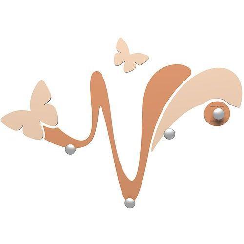 Wieszak ścienny dekoracyjny butterfly jasnobrązowy (50-13-1-23) marki Calleadesign