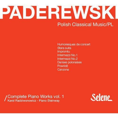 Cd selene Paderewski: complete piano works vol.1 - radziwonowicz karol (płyta cd)