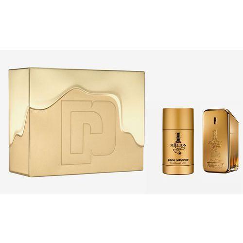 1 million, zestaw podarunkowy, woda toaletowa 50ml + dezodorant w sztyfcie 75ml marki Paco rabanne