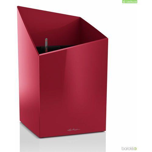 Donica Lechuza Cursivo Premium 30 - czerwona, połysk - czerwony (4008789166050)