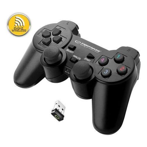 """Gamepad bezprzewodowy 2.4GHz PS3/PC USB Esperanza """"Gladiator"""" czarny, EGG108K"""