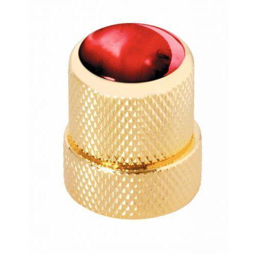 Warwick war-30516-gd-red-cap st knopf, rund 4-6mm, rt kap gd st knob, round 4-6mm, rd cap gd, gałka potencjometru