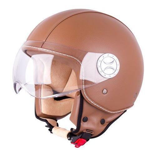 W-tec Kask motocyklowy otwarty na skuter fs-701b leather brown, brown, s (55-56) (8596084053626)