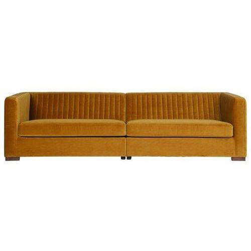 Sofa nouveau xl aksamitna musztardowa marki Be pure