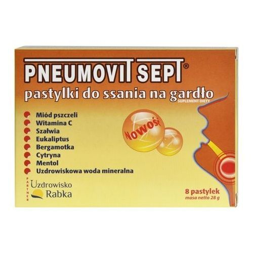 Pneumovit SEPT GorVita pastylki do ssania do gardła infekcje wirusowe bakteryjne 8szt (5907636994565)