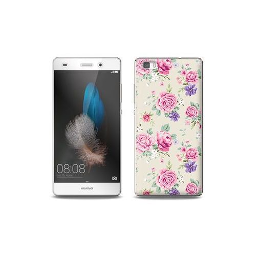 Huawei p8 lite - etui na telefon full body slim fantastic - pastelowe różyczki marki Etuo full body slim fantastic