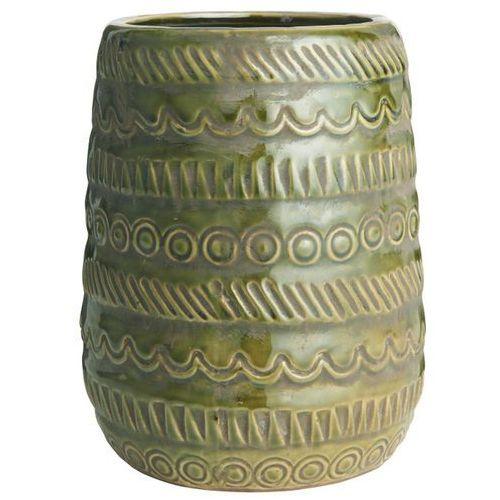 Ib Laursen - Doniczka ceramiczna ze wzorem oliwkowa wysoka
