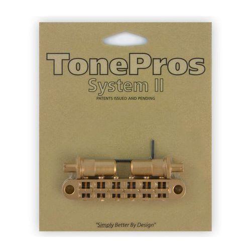 t3bt-sg - tune-o-matic bridge, mostek do gitary, satynowy złoty marki Tonepros