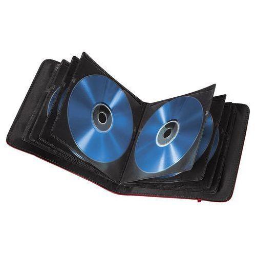 Hama CD Wallet Slim 24 CD Czerwony Gumka (95669) Darmowy odbiór w 15 miastach! (pudełko i etui na płytę)