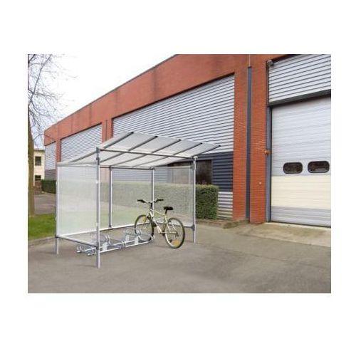 """Wiata rowerowa aluminiowa typu """"Eco"""" - 5 stanowisk dla rowerów"""