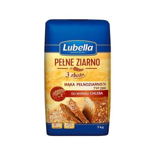 1kg pełne ziarno 3 zboża mąka pełnoziarnista do wypieku chleba marki Lubella