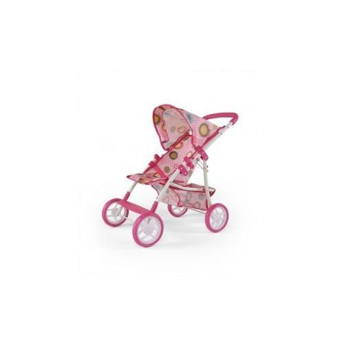 WÓZEK DLA LALEK NATALIA RÓŻOWO-BRĄZOWY #B1 (wózek dla lalki) od ZabawekRaj