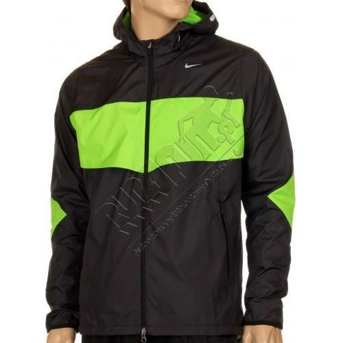 Lekka kurtka do biegania -  Vapor Lite Jacket, kolor: czarny/jaskrawa zieleń, Nike z Run4Fun.pl - Dystrybutor Nike