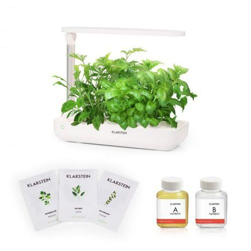growlt flex starter kit ii 9 roślin 18 w 2 l zestaw nasion europejskich pożywka marki Klarstein
