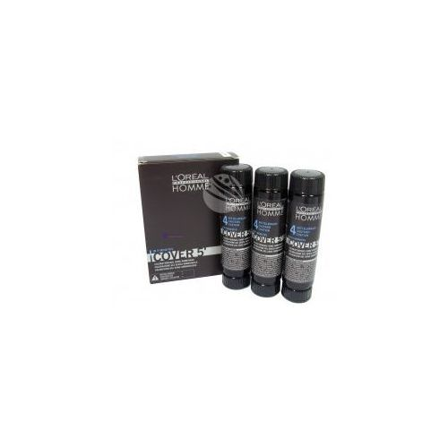 L'Oreal Homme Cover 5' (M) żel koloryzujący do włosów 04 3x50ml + próbka perfum gratis, L'oreal z Perfumesco.pl