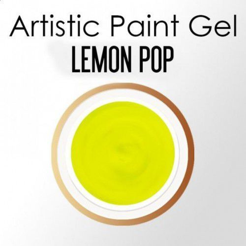 Nails Company ARTISTIC PAINT GEL PASTA 5g - LEMON POP (neonowy żółty), 39918