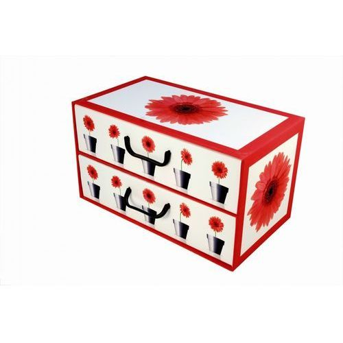 Miss space Pudełko kartonowe 2 szuflady poziome doniczki-gerbery (8033695876089)