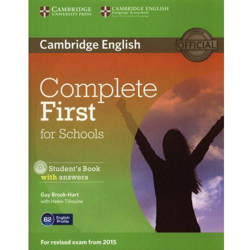 Complete First for Schools. Podręcznik z Odpowiedziami + CD. (2014)